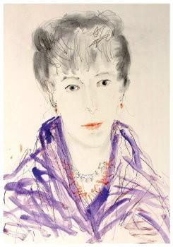 Arja van den Berg (1947) -Zelfportret in kimono 2002- Postkaart