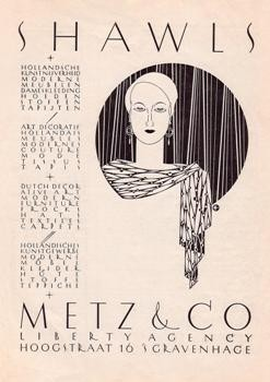 Stefan Schlesinger (1896-1944)-Advertentie Metz & Co, filiaal Den Haag- Postkaart
