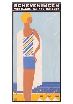 Louis C. Kalff (1897-1976) -Omslag brochure:'Scheveningen', 1930- Postkaart