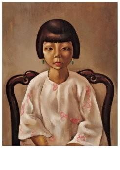Dolf Breetvelt (1892-1975) -Chinees meisje, ca 1932- Postkaart