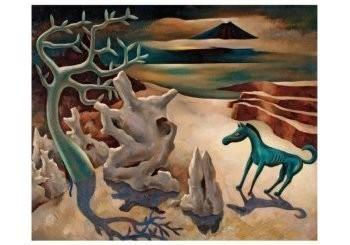 Dolf Breetvelt (1892-1975) -Paardje in surrealistisch landschap, ca 1936- Postkaart