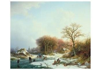 B.C. Koekoek (1803-1862) -B.C. Koekkoek-Winterlandschap- Postkaart