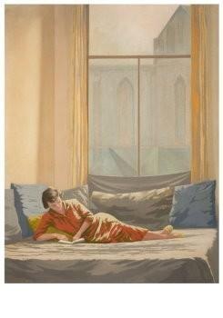 Edgar Fernhout (1912-1974) -Interieur- Postkaart