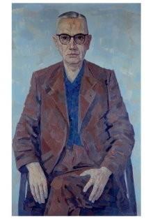 Edgar Fernhout (1912-1974) -Portret Simon Vestdijk- Postkaart