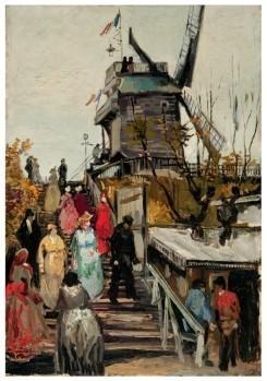 Vincent van Gogh (1853-1890) -De molen Le blute-fin,1886- Postkaart