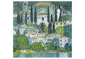 Gustav Klimt (1862-1918) -Kirche in Cassone, 1913- Postkaart