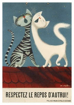 Donald Brun (1909-1999) -Respectez le repos d'autrui- Postkaart