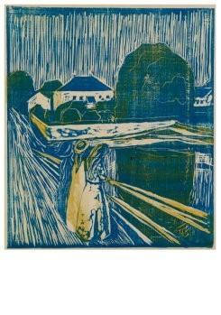 Edvard Munch (1863-1944) -Meisjes op een brug, 1918- Postkaart