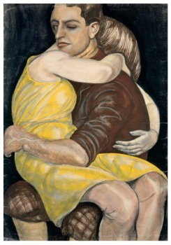 Kurt Gunther (1893-1955) -Liefdespaar, 1928- Postkaart