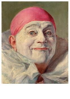 Armand Francois Joseph Henrion-Zelportret als pierrot - Self-portrat as pierrot- Postkaart