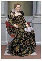 Giovan Battista Moroni(1522-79-Portret van Isotta Brembati, ca 1552-1553- Postkaart