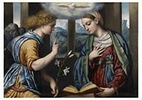 Il Moretto da Brescia1498-1554-Annunciatie, 1535-1540- Postkaart