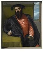 Il Moretto da Brescia1498-1554-Portret van een man met een brief, 1538- Postkaart