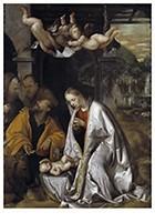 Romanino (ca.1485 - ca.1540/41-Adoratie van het Christuskind, ca.1545- Postkaart