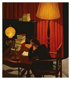 Kik Zeiler (1948) -'De dichter', 1988- Postkaart