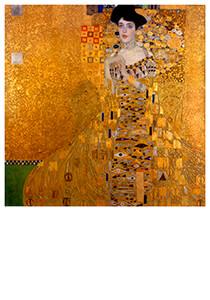Gustav Klimt (1862-1918) -Adele Bloch-Bauer's Portrait, 1907- Postkaart