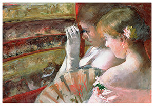 Mary Cassatt (1844-1926) -In The Box- Postkaart