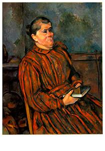 Paul Cézanne (1839-1906) -Woman In A Red Striped Dress- Postkaart