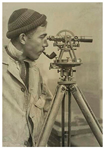 "Lewis Hine(1874-1940) -""Field Engineer For Power Construction"" (Empire State Buildi- Postkaart"