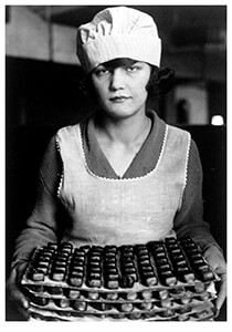 Lewis Hine(1874-1940) -Candy Worker, New York- Postkaart
