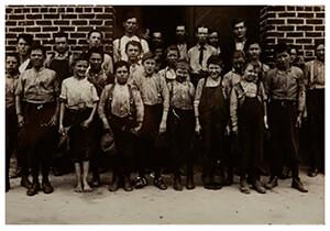 Lewis Hine(1874-1940) -Kinderarbeiter- Postkaart