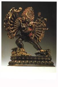 Anoniem, -Yamantaha: figuur met de rang van Boeddha, Tibet- Postkaart