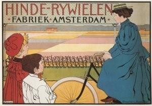 J.G.van Caspel (1870-1926) -Hinde Rijwielen, collection: W. Lowenhardt- Postkaart