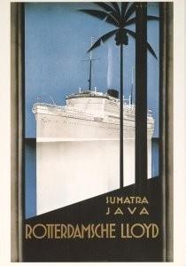 Johann von Stein (1896-1965) -Rotterdamsche Lloyd- Postkaart