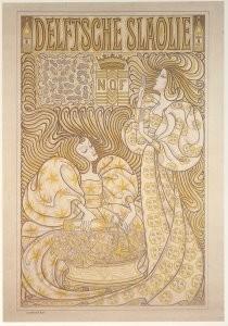 Jan Th.Toorop (1858-1928) -Delftse Slaolie- Postkaart