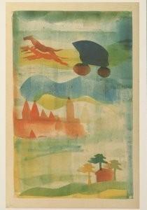 Hendrik Nic.Werkman (1882-1945-De rit naar Berlijn, proefdruk van de eerste serie- Postkaart