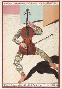 Milton Glaser (1929) -Brooklyn Center for the Performing Arts- Postkaart