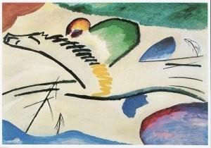 Vassily Kandinsky (1866-1944) -Lyrisch, Lyrical, 1911- Postkaart