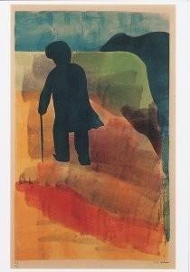 Hendrik Nic.Werkman (1882-1945-De weg terug, The way back- Postkaart