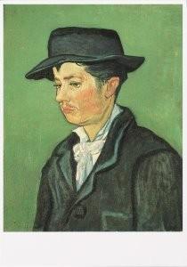 Vincent van Gogh (1853-1890) -portret van Armand Roulin- Postkaart