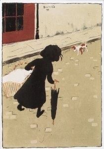 Pierre Bonnard (1867-1947) -La petite blanchisseuse- Postkaart