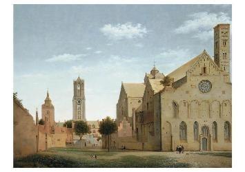 Pieter Saenredam (1597-1665) -De Mariaplaats- Postkaart