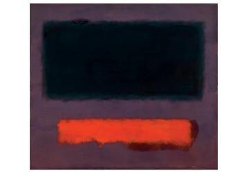 Mark Rothko (1903-1970) -Grijs, oranje, op kastanjebruin 60/8- Postkaart