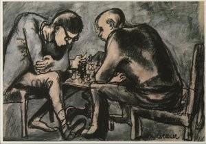 Arnold Reemer (1925-1981) -Schakers, 1965- Postkaart