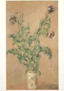 Claude Monet (1840-1926) -Paarse klaprozen- Postkaart