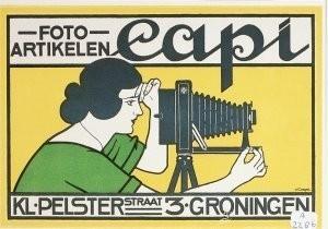 J.G.van Caspel (1870-1926) -Foto-artikelen Capi, ca. 1923- Postkaart