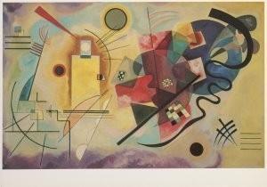 Vassily Kandinsky (1866-1944) -Jaune,rouge,bleu- Postkaart
