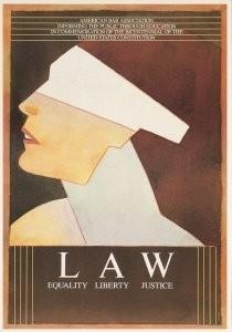 Milton Glaser (1929) -M.Glaser/ American Bar Ass.- Postkaart