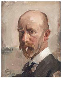 Isaac Israels (1865-1934) -Zelfportret met sigaret- Postkaart