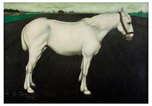 Jan Mankes(1889-1920) -Wit paard, 1917- Postkaart