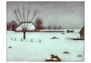 Jan Mankes(1889-1920) -Winter in Eerbeek, 1917- Postkaart