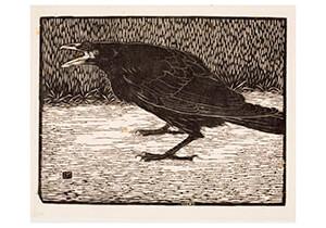 Jan Mankes(1889-1920) -Schreeuwende kraai, 1918- Postkaart