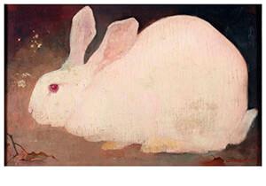Jan Mankes(1889-1920) -Wit konijn- Postkaart