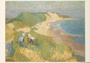 Jan Th.Toorop (1858-1928) -Duinen en de zee bij Zoutelande- Postkaart