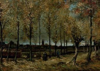 Vincent van Gogh (1853-1890) -Populierenlaan bij Nuenen- Postkaart