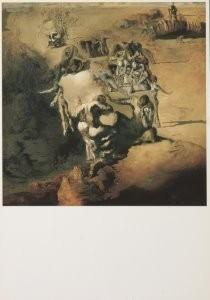 Salvador Dali (1904-1989) -De grote paranoide, Le grand paranoique, 1936- Postkaart